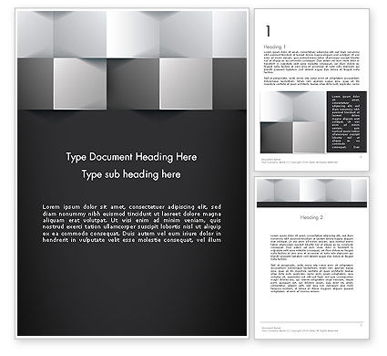 Abstract/Textures: Gray Cubical Background Word Template #12927