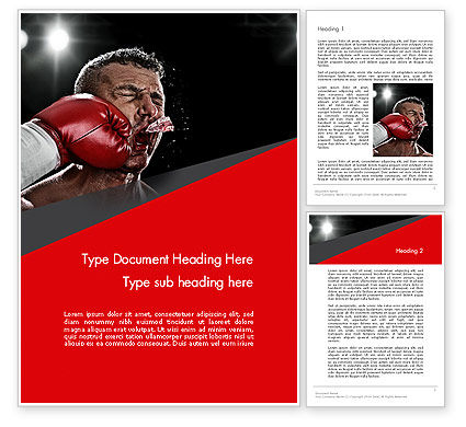 Knockout Word Template, 12928, Sports — PoweredTemplate.com