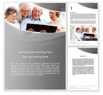 Retirement Activities Word Template, 12930, People — PoweredTemplate.com