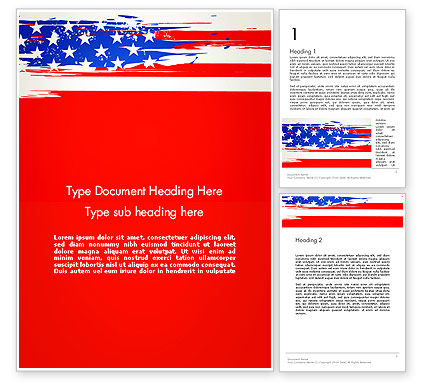 United States Flag Theme Word, 12931, America — PoweredTemplate.com