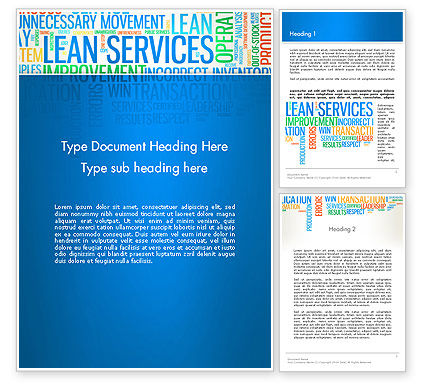 Lean Services Colored Word Cloud Word Template, 12937, Careers/Industry — PoweredTemplate.com