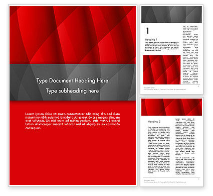 Abstract/Textures: Abstract Red Intersecting Waves Word Template #12939