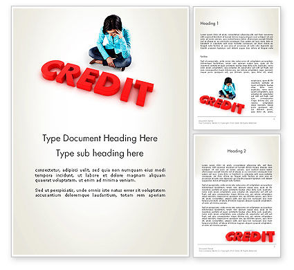 Financial/Accounting: Bad Credit Word Template #12941