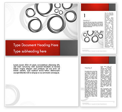 Abstract/Textures: Fantasy Gray Circles Word Template #12956