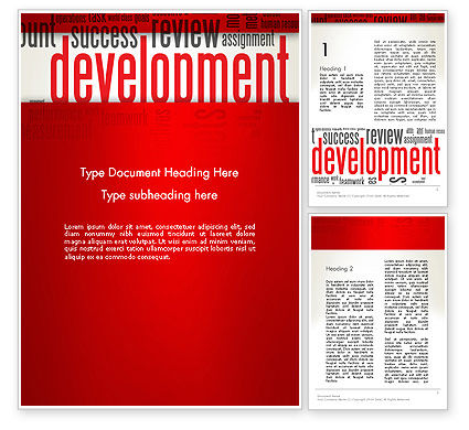 Development Word Cloud Word Template, 12959, Business Concepts — PoweredTemplate.com