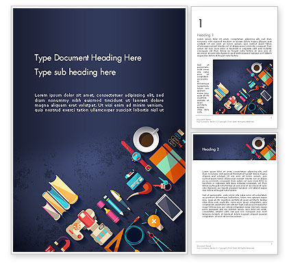 Office Stationery Word Template, 12977, Business Concepts — PoweredTemplate.com