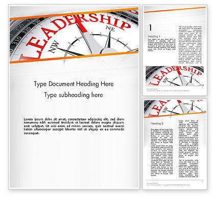 Leadership Management Word Template, 12979, Business Concepts — PoweredTemplate.com