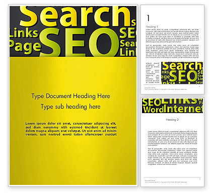 Careers/Industry: Search Engine Optimization Word Cloud Word Template #12988