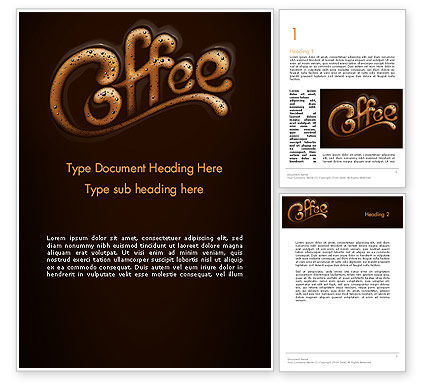 Food & Beverage: Koffie-aroma Word Template #12989