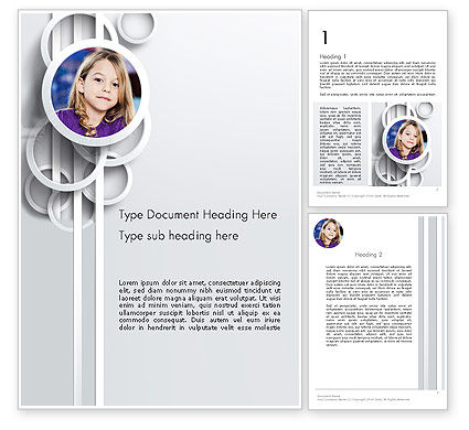 White Circles Word Template, 12990, People — PoweredTemplate.com