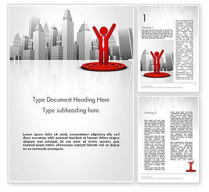 Business Winner Word Template, 12998, Business Concepts — PoweredTemplate.com