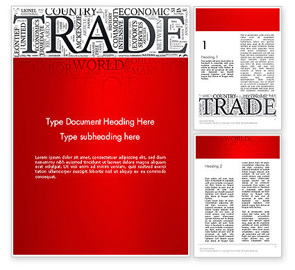 Trade Word Cloud Word Teemplate, 13026, Careers/Industry — PoweredTemplate.com