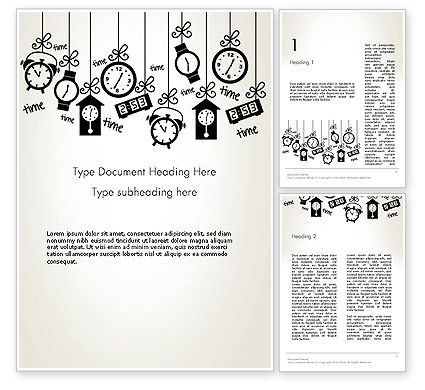 Floating Hours Word Template, 13028, Consulting — PoweredTemplate.com