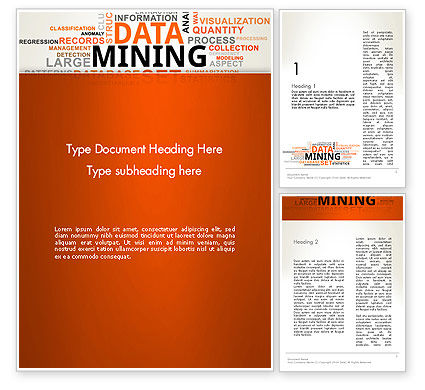 Business: Data Mining Word Cloud Word Template #13038