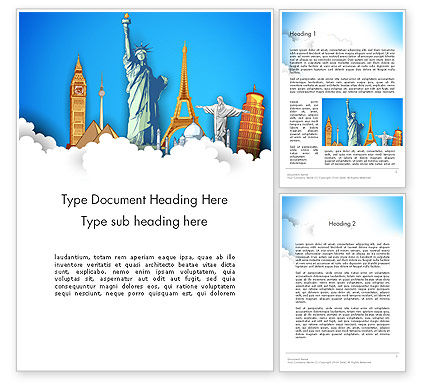 Landmarks Word Template, 13044, Careers/Industry — PoweredTemplate.com