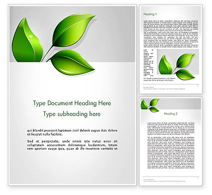 Ecological Theme Word Template, 13050, Nature & Environment — PoweredTemplate.com