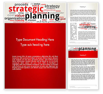 Strategic Planning and Management Word Cloud Word Template