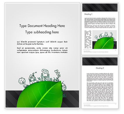 Nature & Environment: Green Environment Concept Word Template #13072