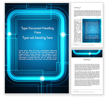 Abstract/Textures: Neon Frame Abstract Word Template #13074