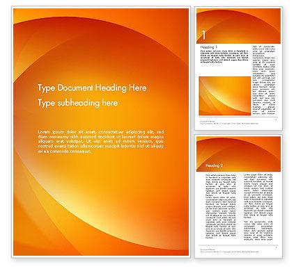 Abstract/Textures: Orange abstrakte bögen Word Vorlage #13079