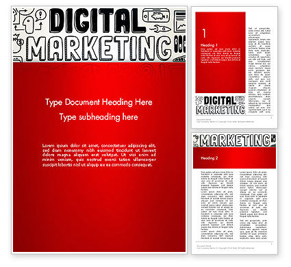 Digital Marketing Word Cloud Word Template, 13083, Careers/Industry — PoweredTemplate.com