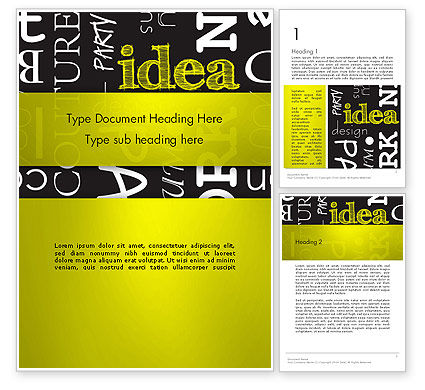 Idea Paint on Chalkboard Word Template, 13085, Business Concepts — PoweredTemplate.com