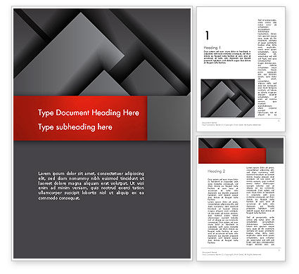 Business: Gray Metal Blocs Word Template #13087