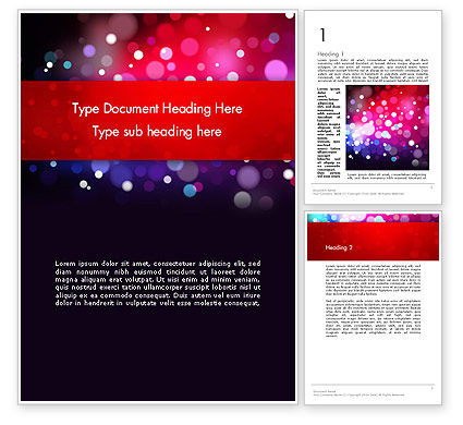Holiday/Special Occasion: Festive Lights Word Template #13090