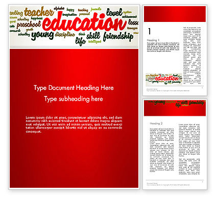 Education Word Cloud Word Template, 13094, Education & Training — PoweredTemplate.com