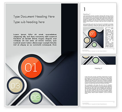 Futuristic Word Template, 13100, Business — PoweredTemplate.com