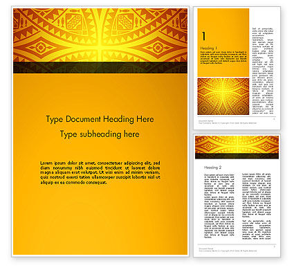Art & Entertainment: Ethnic Ornament Word Template #13104
