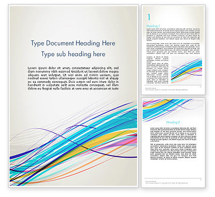Abstract/Textures: Thin Colorful Lines Word Template #13109