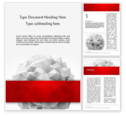 Abstract/Textures: Polygonal Sphere Word Template #13113
