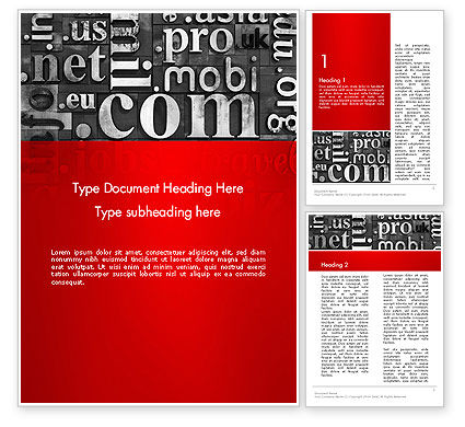 Domain Zones in Linotype Slugs Word Template