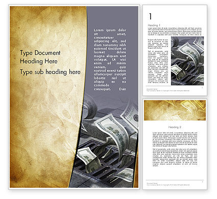Consulting: Throwing Money Down Drain Word Template #13117