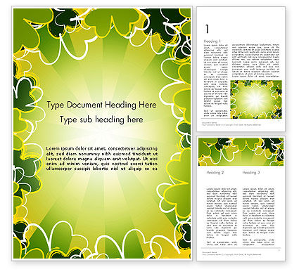 St Patrick Theme Word Template, 13119, Holiday/Special Occasion — PoweredTemplate.com