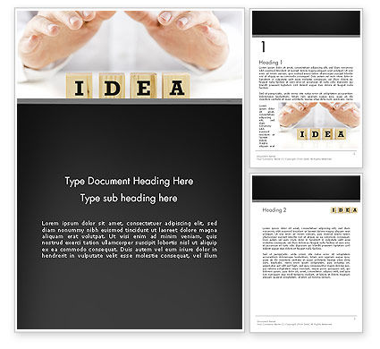 Idea Protection Word Template, 13144, Legal — PoweredTemplate.com
