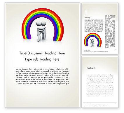 LGBT Word Template, 13149, 3D — PoweredTemplate.com