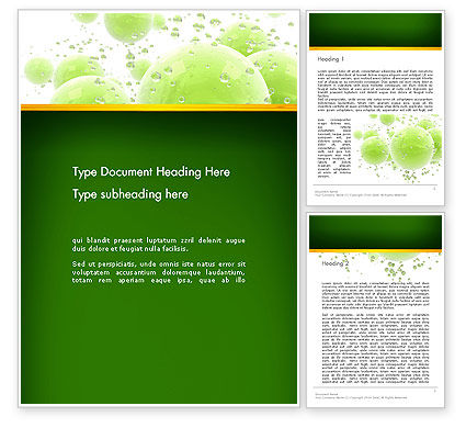 Abstract/Textures: Green Balls Abstract Word Template #13150