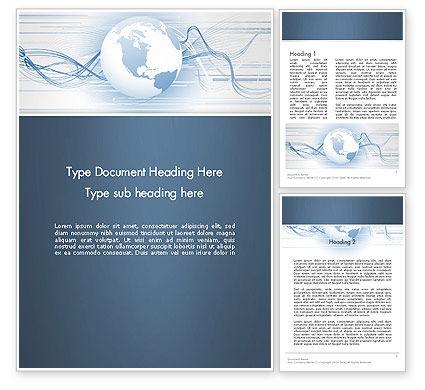 Next Generation Globe Word Template, 13151, Global — PoweredTemplate.com