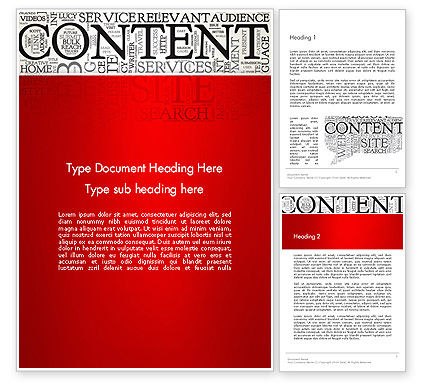 Content Word Cloud Word Template