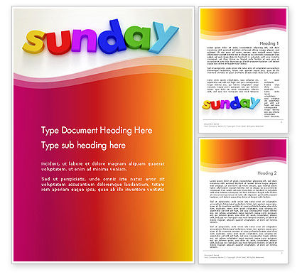 Sunday Word Template, 13156, Holiday/Special Occasion — PoweredTemplate.com