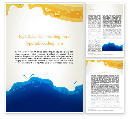 Yellow and Blue Painting Word Template