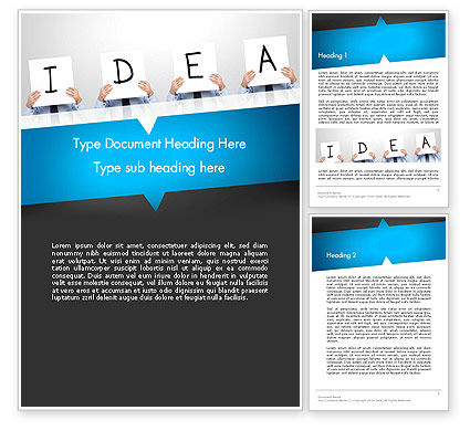 Presenting an Idea Word Template, 13165, Business Concepts — PoweredTemplate.com