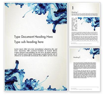Abstract/Textures: Modelo do Word - tinta queda na água #13180