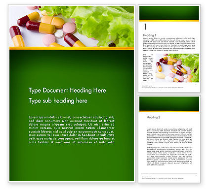 Food Supplements Word Template, 13191, Food & Beverage — PoweredTemplate.com