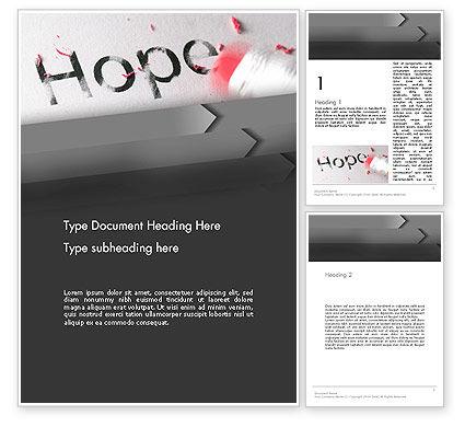 Losing Hope Word Template, 13193, Religious/Spiritual — PoweredTemplate.com