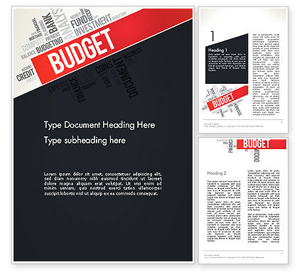 Budget Word Cloud Word Template, 13197, Financial/Accounting — PoweredTemplate.com