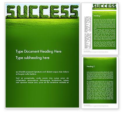 Green Grass Word Success Word Template, 13198, Business Concepts — PoweredTemplate.com