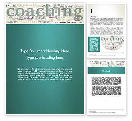 Business Communication Coach Word Template, 13201, Education & Training — PoweredTemplate.com